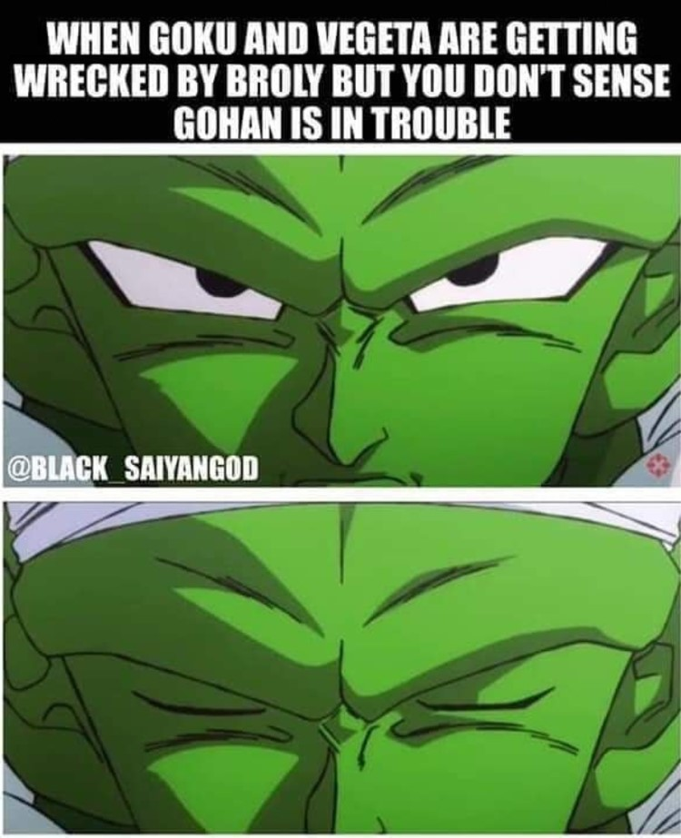 Piccolo getting wrecked meme