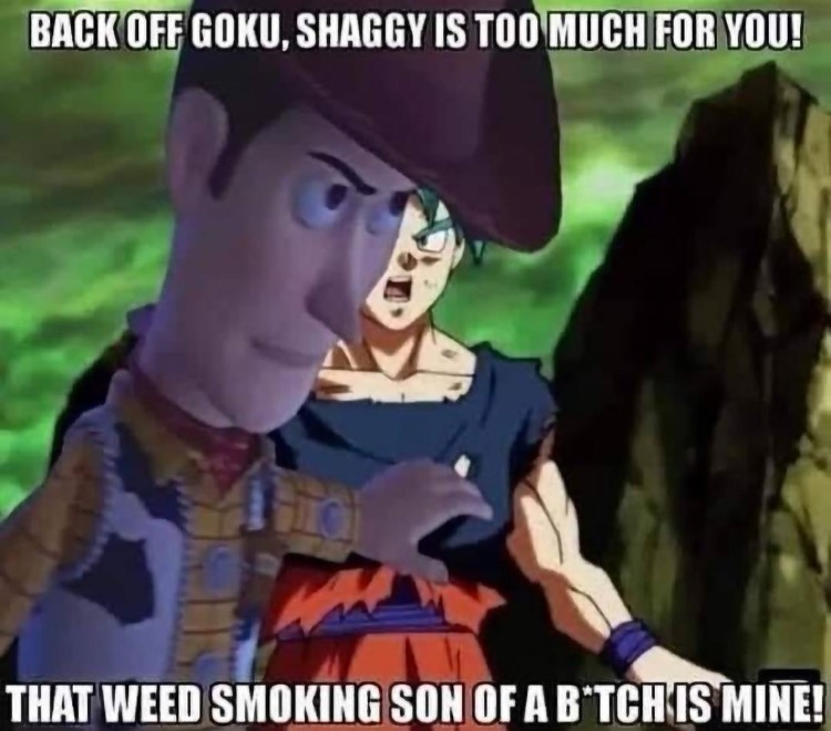 Woody back off goku