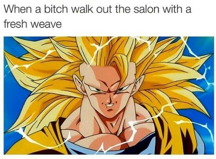 DBZ long hair meme