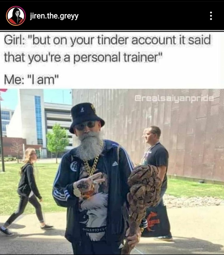 Real life old guy DBZ meme