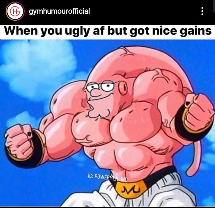 Peter Griffin Majinbuu meme combined