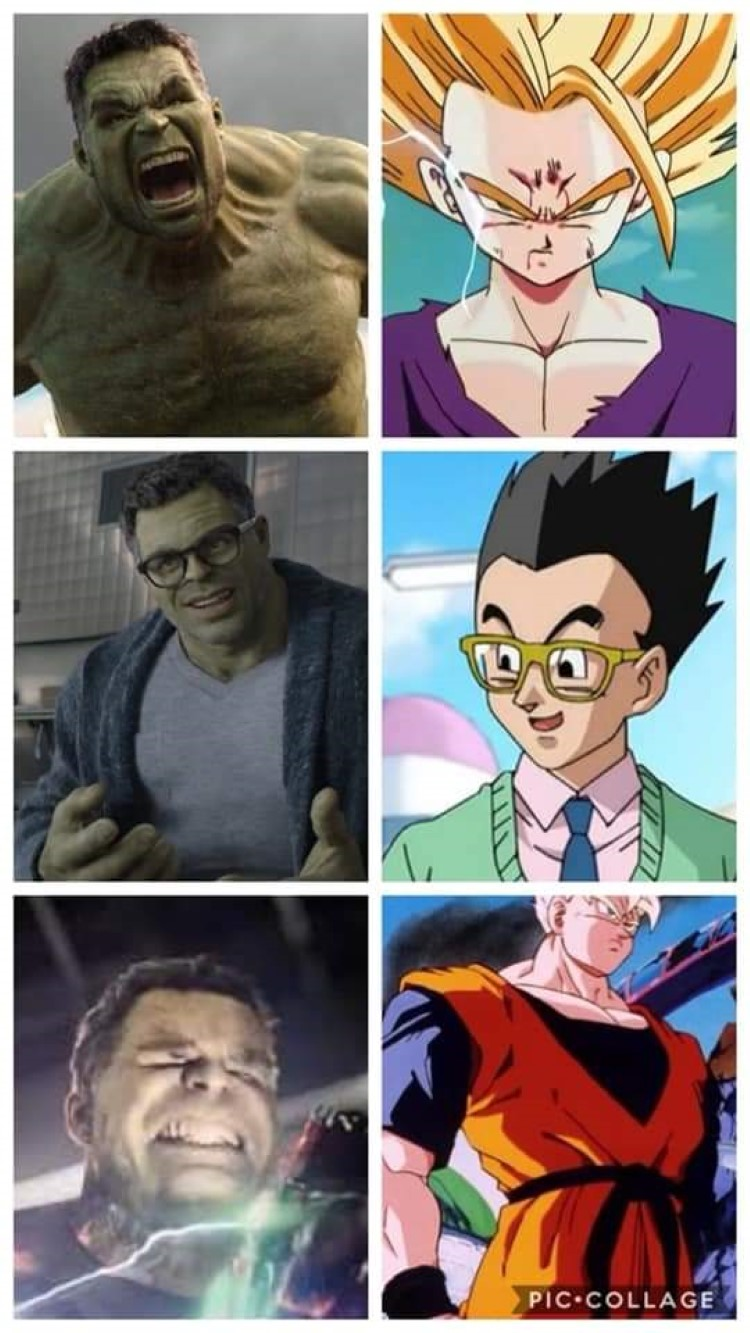 Collage angry meme dbz