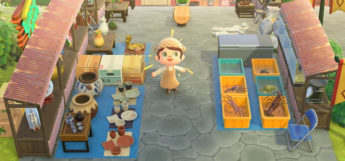 Open marketplace area in Animal Crossing New Horizons