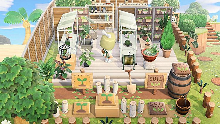 Outdoor plant shop idea in ACNH