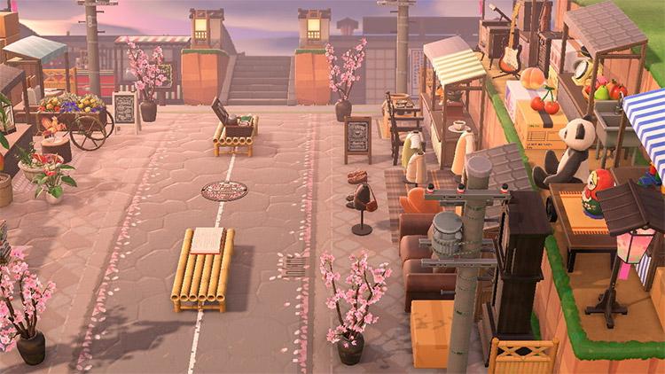 Sakura Street Area in ACNH