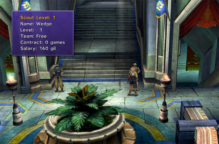 Wedge Recruiting Location for Blitzball in FFX