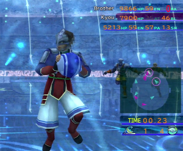 Kyou playing Blitzball in FFX