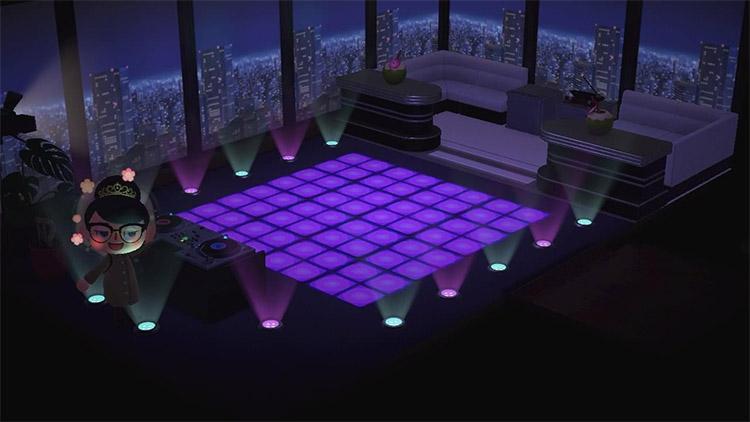 NYC-themed club and bar dancefloor idea in ACNH