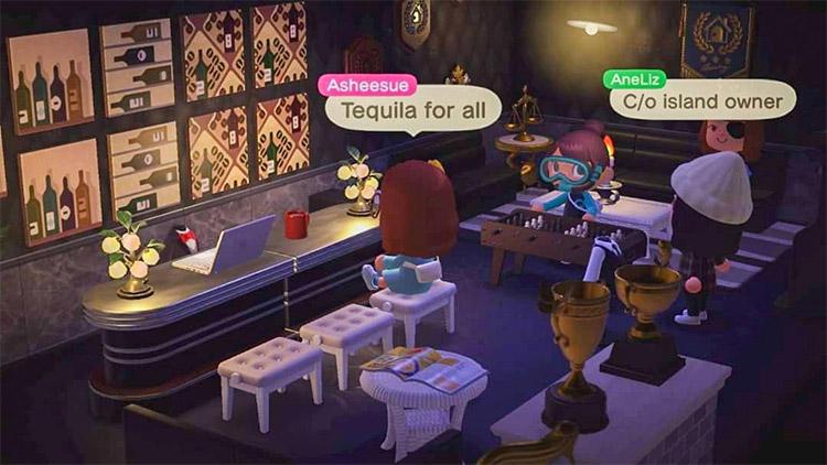 Fancy tequila bar design in ACNH