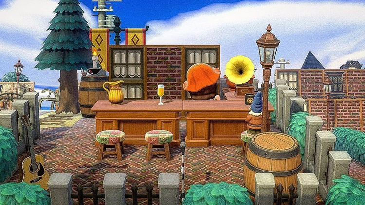Outdoor pub during the daytime / ACNH Idea