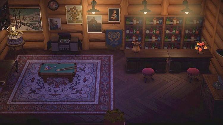 Lone Star Cabin Bar idea in ACNH