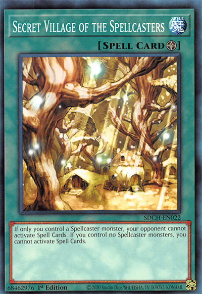 Secret Village of the Spellcasters YGO Card