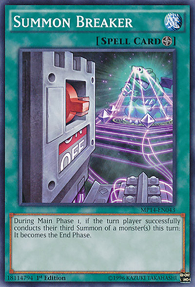 Summon Breaker YGO Card