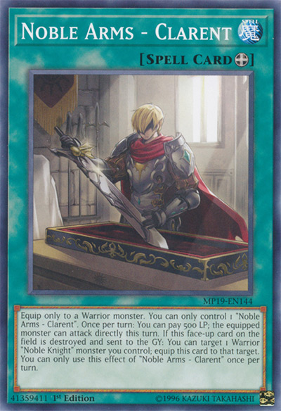 Noble Arms Clarent YGO Card