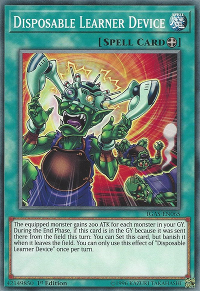 Disposable Learner Device Yu-Gi-Oh Card