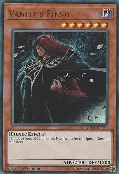 Vanity's Fiend YGO Card