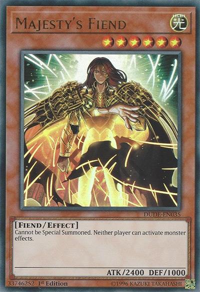 Majesty's Fiend YGO Card
