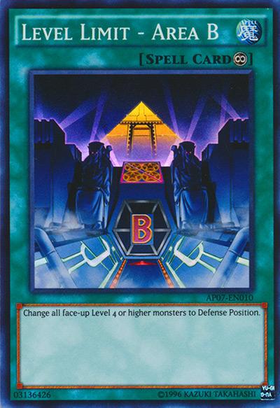 Level Limit Area B YGO Card