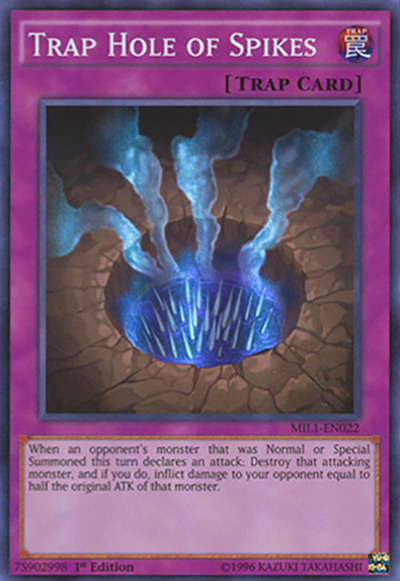 Trap Hole of Spikes Yu-Gi-Oh Card