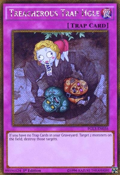 Treacherous Trap Hole YGO Card
