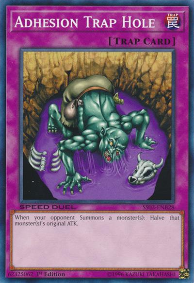 Adhesion Trap Hole YGO Card