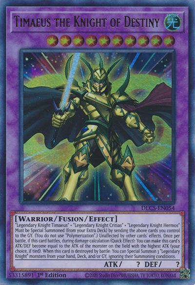 Timaeus the Knight of Destiny YGO Card