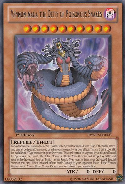 Vennominaga The Deity of Poisonous Snakes YGO Card