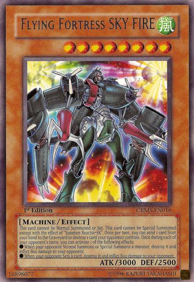 Flying Fortress Sky Fire Yu-Gi-Oh Card