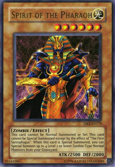 Spirit of the Pharaoh YGO Card