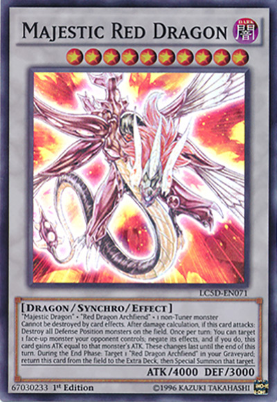 Majestic Red Dragon Yu-Gi-Oh Card