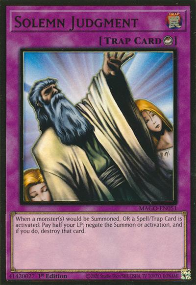 Solemn Judgement Yu-Gi-Oh Card