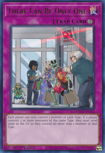 There Can Only be One YGO Card
