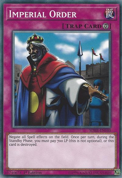 Imperial Order YGO Card