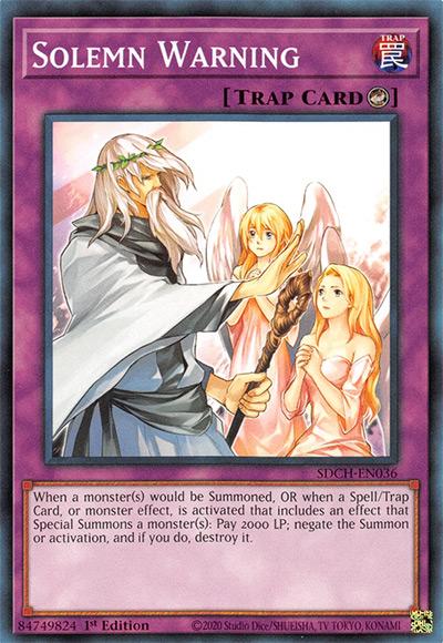 Solemn Warning YGO Card