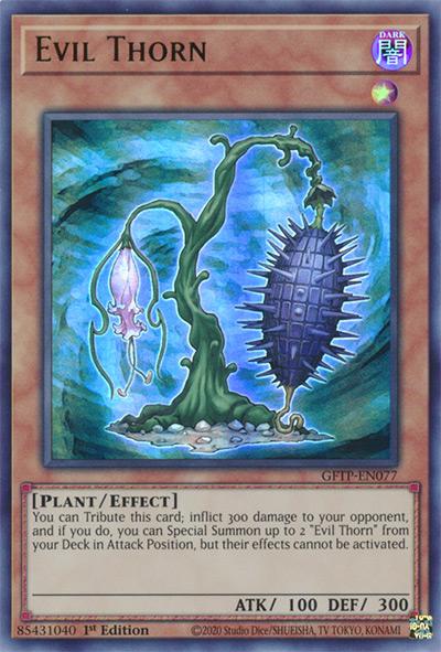 Evil Thorn Yu-Gi-Oh Card