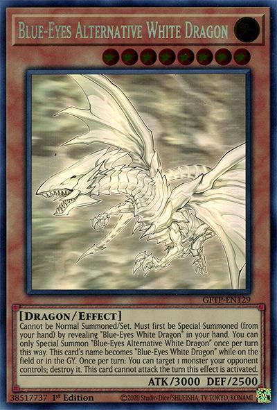 Blue-Eyes Alternative White Dragon YGO Card