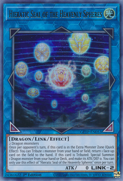 Hieratic Seal Of The Heavenly Spheres Yu-Gi-Oh Card