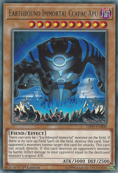Earthbound Immortal Ccapac Apu YGO Card