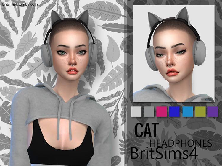 Cat Ears Headphones TS4 CC