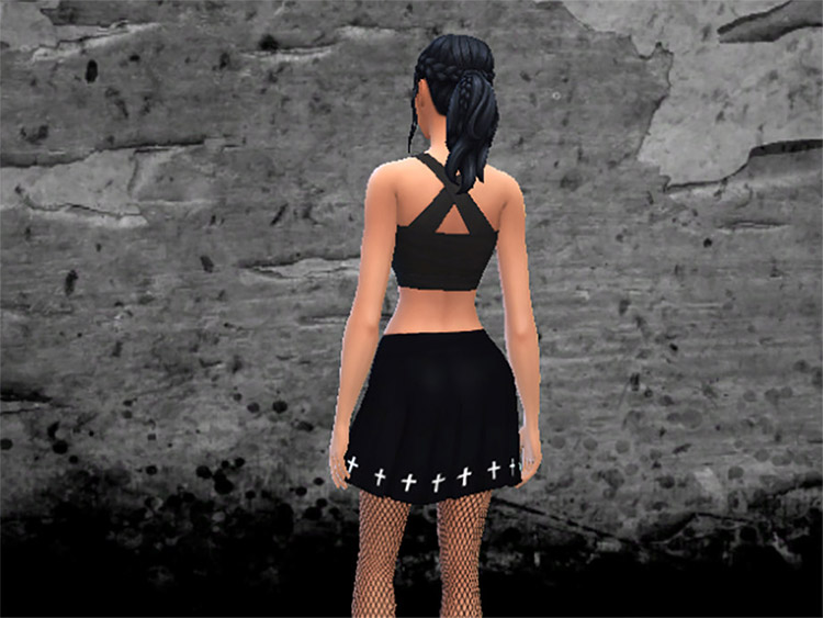 Pleated Skirt with Gothic Style / TS4 CC