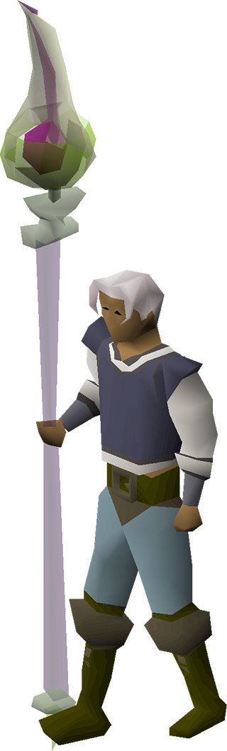 Toxic Staff of the Dead Equipped in OSRS