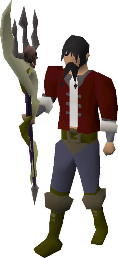 Trident of the Swamp OSRS Render