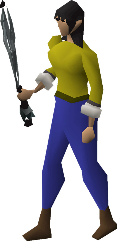 Equipped 3rd age Wand OSRS Render