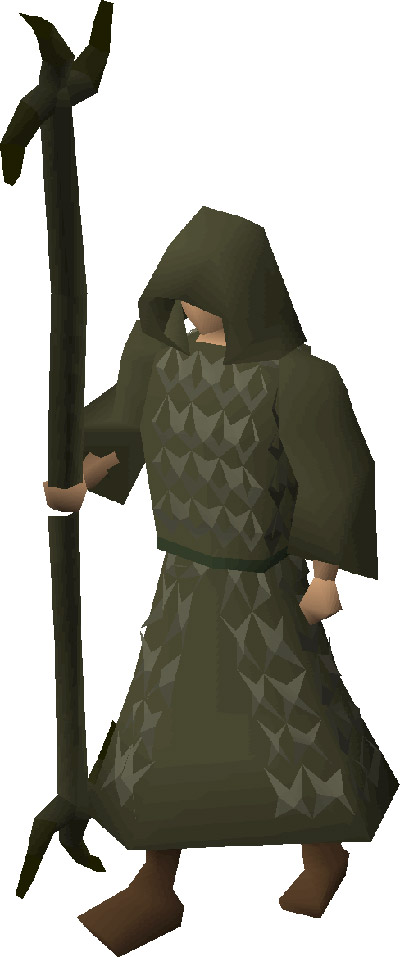 Ahrim's Staff with Ahrims Robes OSRS