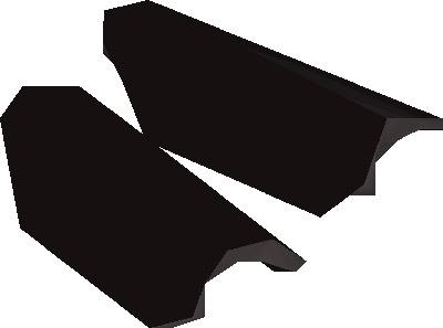 Black d'hide Vambraces Render from OSRS