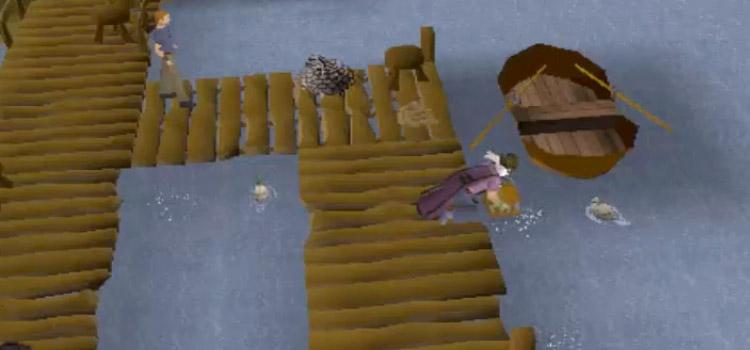 Lobster Fishing Screenshot in Old School RuneScape