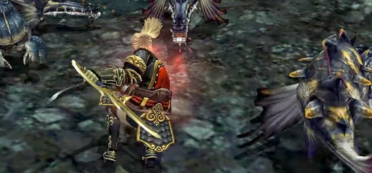 FFXI HD Screenshot of a Ninja Battle