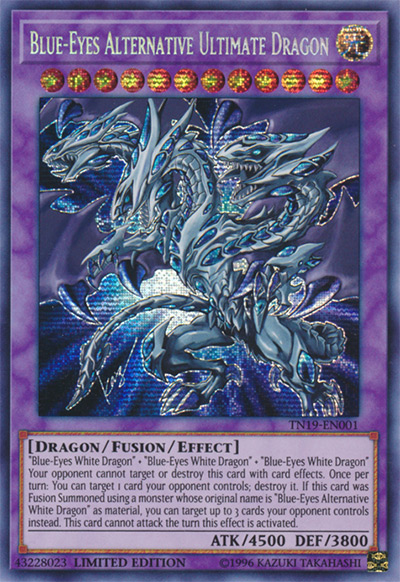 Blue Eyes Alternative Ultimate Dragon YGO Card