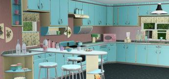 1950s Style Kitchen Interior - The Sims Screenshot