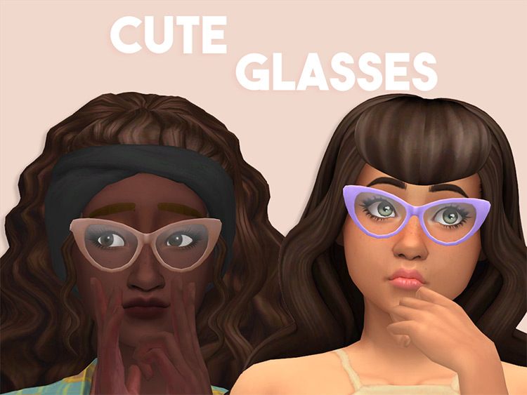 Cute Glasses for Sims 4